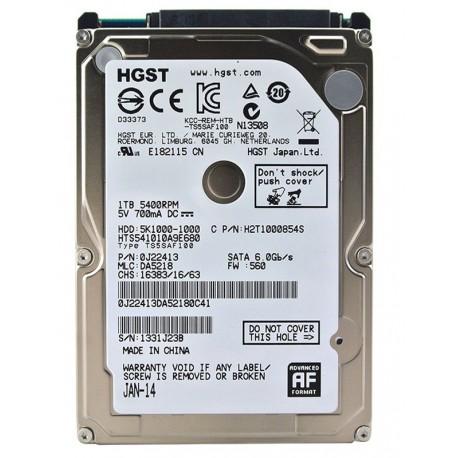 HGST Hitachi 2.5 Inch sata 3 - 1TB Laptop