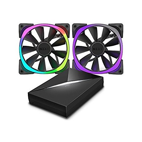 NZXT  Aer RGB140 Dual 120m Fan + HUE controller