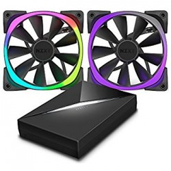 NZXT  Aer RGB140 Dual 140m Fan + HUE controller