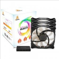 Segotep Fan 12CM RGB x 3 PCS + Wireless Remote (15LED+Lightning Modes)