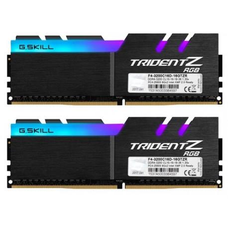 Gskill Trident Z RGB 16GB DDR4 (2X8GB) 3200mhz F4-3200C 16GTZR