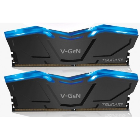 V-GEN TSUNAMI LED 8GB DDR4 (2X4) 2666MHZ