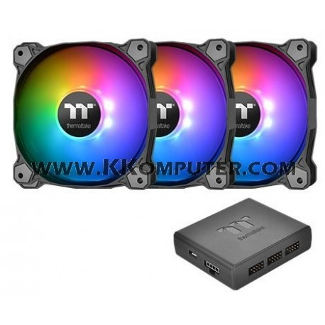 Pure Plus 12 LED RGB Radiator Fan TT Premium Edition (3-Fan Pack)