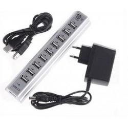 USB Hub 10 Port Saklar + Adaptor