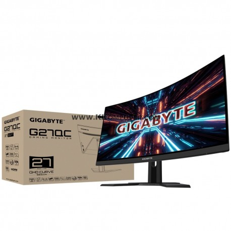 LED GIGABYTE G27QC 27INC CURVE-165HZ-1MS-FREESYNC-QHD