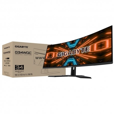 LED GIGABYTE G34WQC 34INC CURVE-144HZ-1MS-FREESYNC-QHD