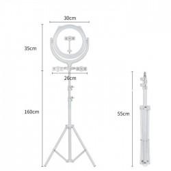 REMAX SELFIE HOLDER RING LIGHT CK01 WHITE
