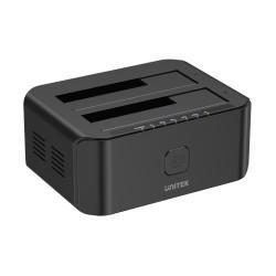 DOCKING STATION DUAL BAY HDD / SSD USB 3.0 CLONEUASP UNITEK Y-3032