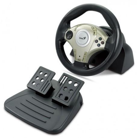 GENIUS Twin Wheel F1 Racing Vibration feddback PS3 & PC